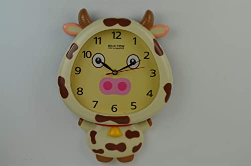 new arrival SkyMall Adorable Cow online online sale Shaped Wall Décor Clock outlet online sale
