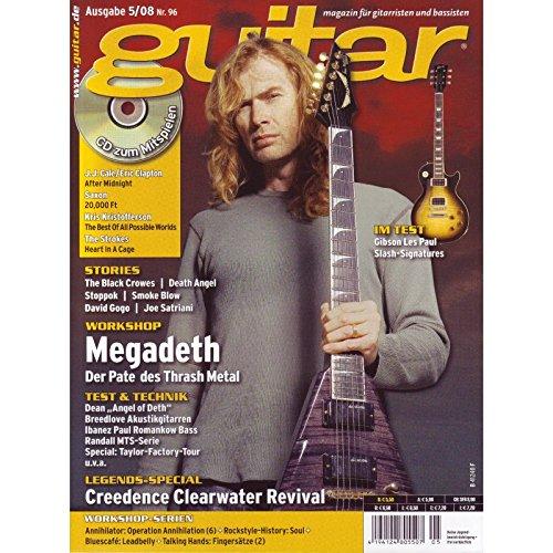 Guitar 5 2008 mit CD - Megadeth - Interviews - Gitarre Workshops - Gitarre Playalongs - Gitarre Test und Technik
