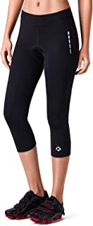 Women's 3D Padded 3/4 Cycling Tights Bicycle Bike Riding Capris Pants