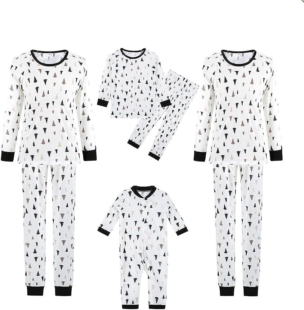 Matching Family Pajamas Set Christmas Pjs for Women Men Long Sleeve Tops +Pants Xmas Holiday Sleepwear