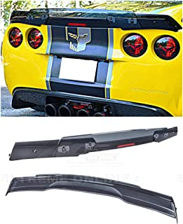 For 2005-2013 Chevrolet Corvette C6   C6.5 Style Rear Trunk Lid Wing Spoiler WickerBill With Plug & Play Third Brake Light ( Painted Carbon Flash Metallic With Smoke Tinted WickerBill )