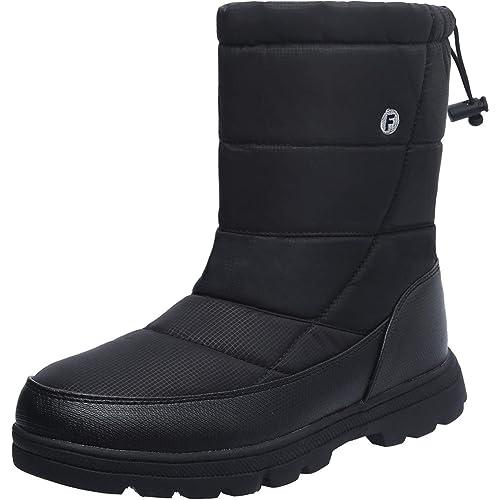 40891e48a393b L-RUN Women's Winter Snow Boots Men's Lightweight Warm Outdoor Bootie with Fur  Lining
