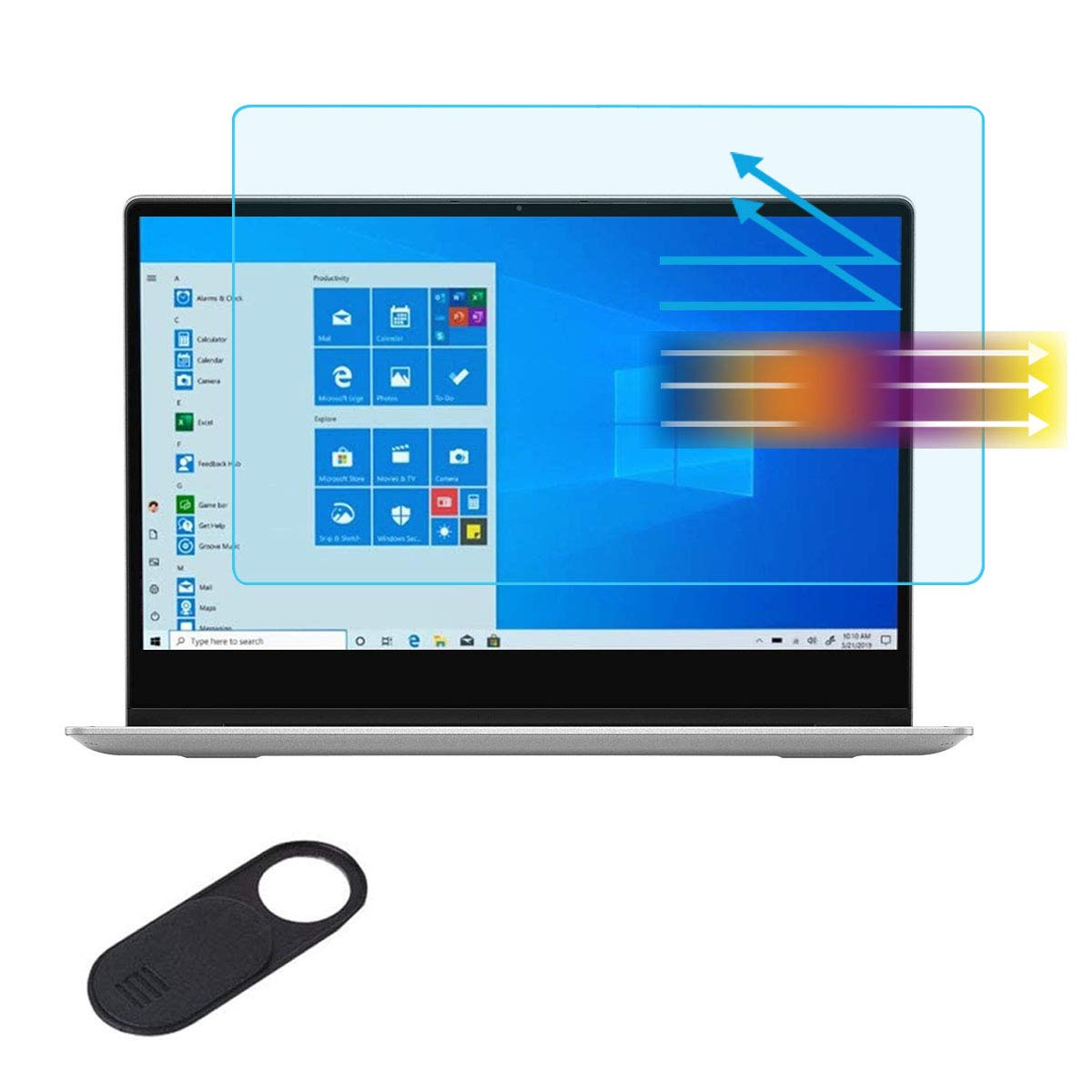 Anti/Blue/Light Anti Glare Screen Protector Fit Microsoft New Surface Pro X 13 2020 2019 Model Touch-Screen Laptop Eyes Protection Screen Filter Reduces Eye Strain Help You Sleep Better