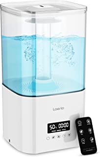 Sponsored Ad - Loerio Cool Mist Humidifiers for Bedroom Large Room with Night Light, 5.5L Top Fill Ultrasonic Humidifiers ...