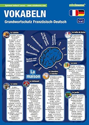 mindmemo Lernfolder - Grundwortschatz Französisch / Deutsch - 1100 Vokabeln lernen leicht gemacht mit System nach Sachgruppen Lernhilfe PremiumEdition ... - Lernhilfe - PremiumEdition (foliert)