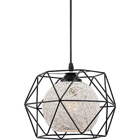 Industrial Vintage Cage Lampada a sospensione caff/è Bar e loft Gang Iron Art a forma di diamante piramide geschmiedete lampada da soffitto F /¨ /¹ R K /¨ /¹ che