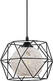 Lámpara de Techo EYLM Lámpara Colgante Vintage de Metal con Bombilla Led de 16W para Cocina Sala Comedor Dormitorio