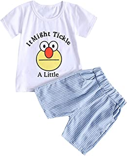 0-24 Monate Einfarbig Shorts Kleidung Set Toddler Kinder Outfit-Set Zweiteiliges BeautyTop♕Baby M/ädchen Mode Karikatur Printed T-Shirt Sommer Kurzarm Tops