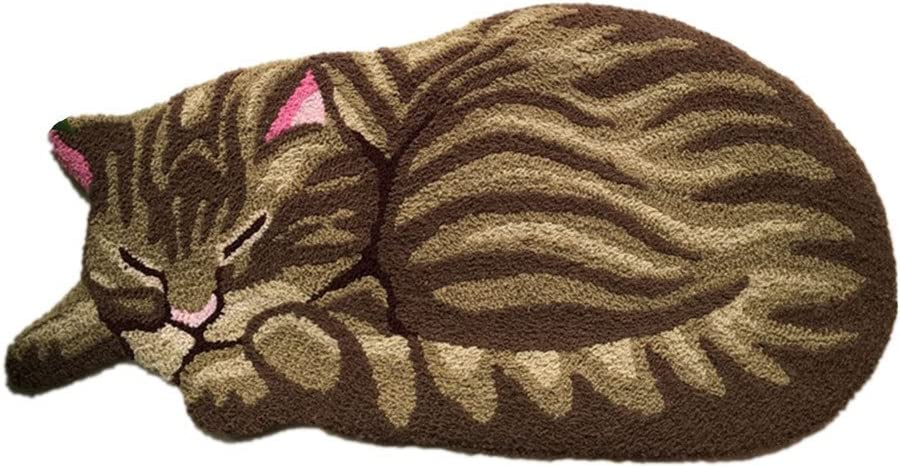 YOUSA Recommended Brown Purchase Sleeping Cat Door Mat Room Ru Design Cute Living