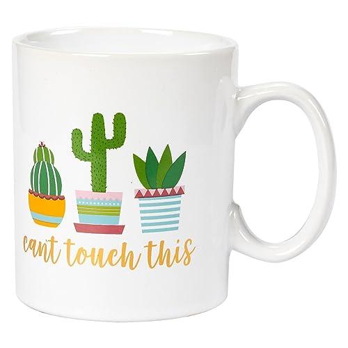 Gift for Him Ceramic Mug Tea Cup Cactus Gift Ideas Pattern Mug Gift for Her Coffee Cup Cactus Mug Birthday Gift Coffee Mug