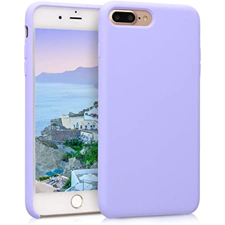 kwmobile TPU Silicone Case Compatible with Apple iPhone 7 Plus / 8 Plus - Case Slim Protective Phone Cover with Soft Finish - Lavender