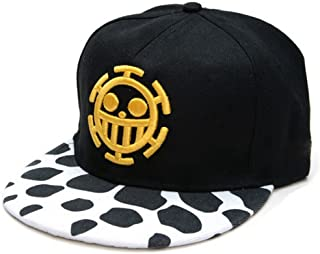 Whoopsu Unisex Flat Trucker Hats Skull Pattern Anime Law Baseball Caps  Snapback Hats 621f54f24122