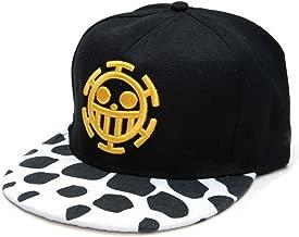 Whoopsu Unisex Flat Trucker Hats Skull Pattern Anime Law Baseball Caps Strapback Hats