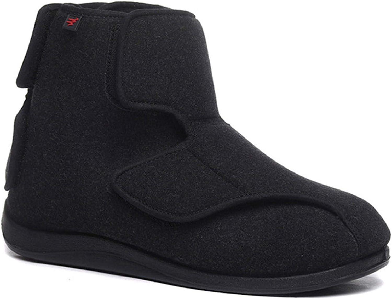 YURUMA Hommes Femmes X-Large Ajustable Chaussures Chaud Bottes Diab/étiques Oed/ème Bouffi Pied Unisexe Vieil Homme Pantoufles Velcro Scratch Oversize 36-51
