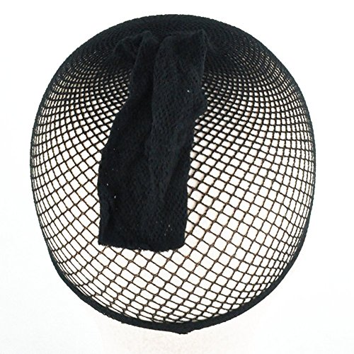 5 pièces Noir filet élastique en filet perruque bonnet stretch