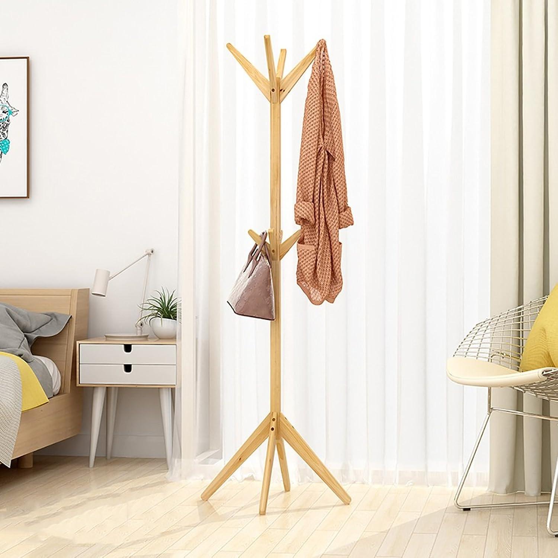 Hanger Floor-Standing Bedroom Coat Rack Home Wood Simple Economical Hanger Multi-Function Single Rod Type (color   C)