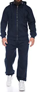 Men Long Sleeve Jogging Suit Zipper Hoodie Tracksuit Sport Set Casual Comfy Sweatsuits with Pockets