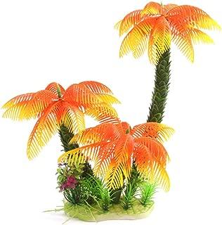 Riverbyland Artificial Aquarium Plant Orange Popular Cocount Palm