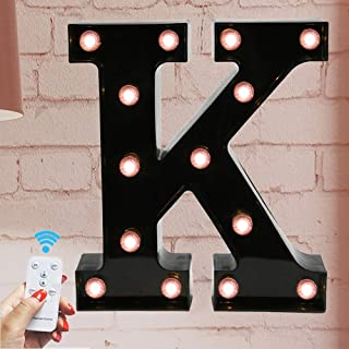 Oycbuzo Marquee Letter Sign Lights – Light Up Black...