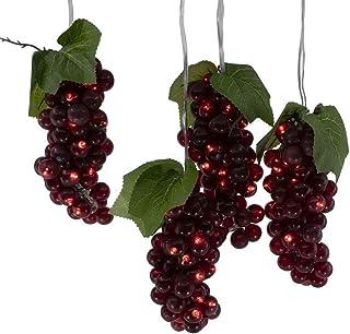 Kurt S. Adler Kurt Adler 100-Light Burgundy LED 5 Grape Bunches Novelty Light Set, Multi