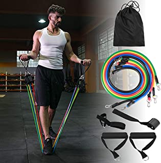 Resistance Bands for men with handles 20lbs-100lbs adjustable With Door Anchor, Ankle Straps, Carrying Bag, workout bands,...