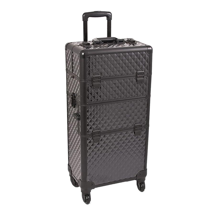 Black Dmnd Trolley Craft/Quilting Storage Case - I3761