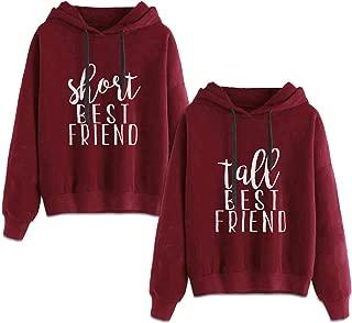 Best Friends Hoodies for 2 Girls BFF Jumper Matching Sweaters for Bestfriends