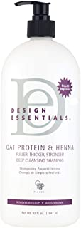 Design Essentials Oat Protein & Deep Cleansing Shampoo, 32 Ounce (Pack May Vary)