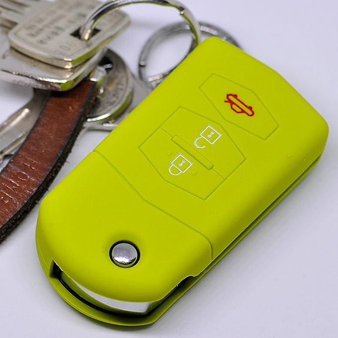 Mt Key Soft Case Silikon Schutzhülle Grün Für 3 Tasten Elektronik