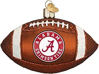 Old World Christmas University of Alabama Glass Blown Ornaments for Christmas Tree Football