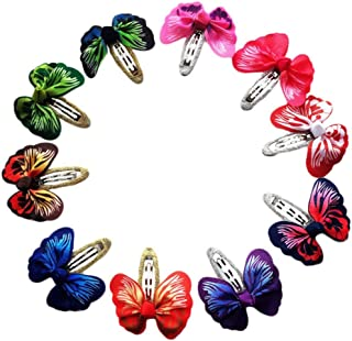 Christmas Merry Wishes 10Pcs Cute Lovely Bow Barrettes Hair Snaps Bowknot Hair Clips Hairband for Baby Kids Children Girl...
