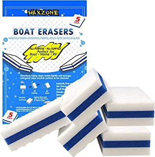 MAXZONE Boat Scuff Eraser 5 Pack - Magic Boating Accessories for Cleaning Black Streak Deck Marks and More - Marine Produc...