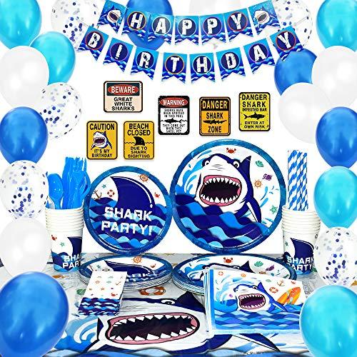 Shark Party Supplies Set