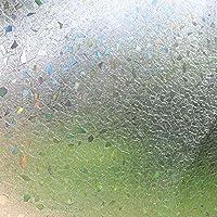 OUPAI 窓フィルム 3Dポリゴンパターン装飾ウィンドウフィルム、ホームオフィスウィンドウデカール、静的なしわ、抗UVのための接着剤プライバシーフロストフィルム (Size : 60x300cm)