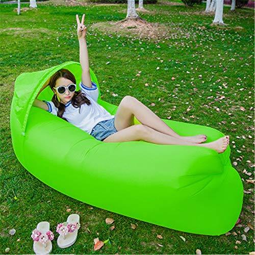 Ufblasbares Sofa Außen aufblasbares Bett Oxford Cloth Sonnenschutz Strand Faul aufblasbares Sofa Aufblasbares Sofa für zu Hause (Farbe : F, Size : 240x70cm)