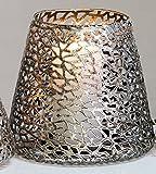 Casablanca - Windlicht/Kerzenständer - Purley - Metall - Farbe: antik-Silber - Ø 20 cm