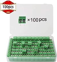 RUNCCI 5.08 mm Pas 2 pin 4 pin Plug-in Vis PCB Terminal Block connecteur Angle Droit 40 pcs, 20 Pairs pour Arduino