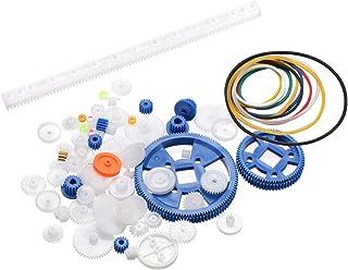 uxcell 83 Pcs Plastic Gear Package Kit DIY Gear Assortment accessories set for Toy Motor Car Robot Various Gear Axle Belt Bushings