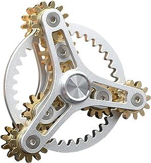 Fidget Spinner Metal Hand Spinner Focus Decompression Toy Fingertip Gyro Sprocket Flywheel Fingertip Toy Stainless Steel M...