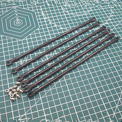 XBaofu 1pc 180/200/250/300/350 / 400mm 3K Carbonrohr Diagonal Push-Rod Arm + 5347 Stangenendlager Kit for Rostock Delta 3D-Drucker (Größe : 300mm Carbon Tube)