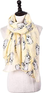 Scarf Balinese Yarn Cartoon Cat Print Spring/Summer/Autumn/Winter Shawl Multifunction Anti-Cool Cooling Measures 6 Colors for Women` TuanTuan (Color : Beige)