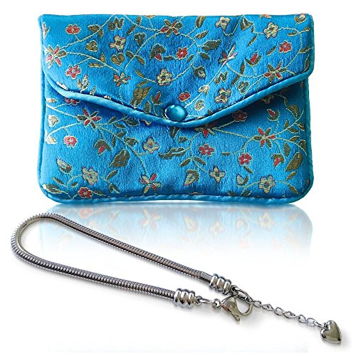 TIMELINE TREASURES PULSERA DE AMULETOS para mujeres y chicas, bolsa para joyas ADICIONAL, cadenas de pulsera tipo serpiente de acero, compatibles con los amuletos de Pandora Cierre de mosquetón, 19 cm