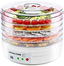 Máquina de conservación de alimentos para el hogar Deshidratador de frutas, Coche eléctrico con pantalla táctil inteligente Secador de aire Coche de 5 capas Plato de cristal plástico Verduras comercia