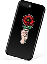 iPhone 8 Plus/iPhone 7 Plus case for Girls, Akna Collection Flexible Silicon Cover for Both iPhone 7 Plus & 8 Plus [Red Rose](619-U.S)
