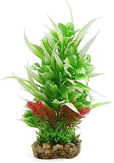 uxcell Plastic Aquarium Terrarium Tank Decorative Plant Habitat Decor for Reptiles and Amphibians