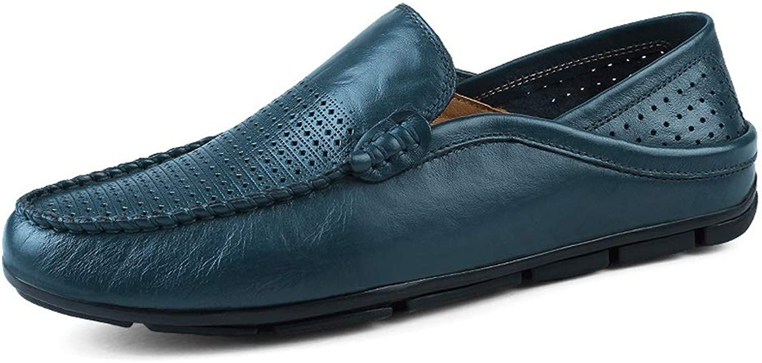 SRY-shoes Men's Personality Fashion Moccasins Wave Sole Soft & Super Light Slip On Driving Loafer