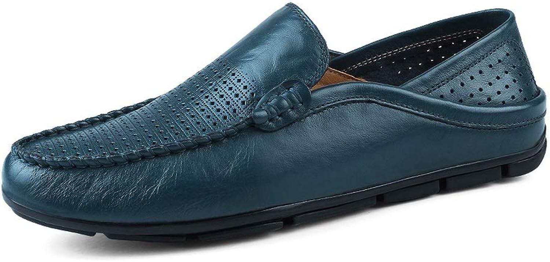 CHENDX Schuhe, Herrenmode Driving LoaferWave LoaferWave Sohle Soft  Super Light Slip On Boat Mokassins (Farbe   Blau Hollow, Größe   37 EU)  rücksichtsvoller Service