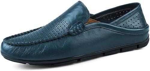 SRY-Chaussures de de Mode Personnalité Masculine Mocassins Wave Sole Mocassins Souples et Super légers à Enfiler (Couleur   bleu HolFaible, Taille   48 EU)