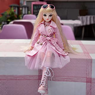 UCanaan BJD Dolls 1/3 SD Fashion Doll 24 Inch 18 Ball Jointed Doll DIY Toys with Full Set Clothes Shoes Wig Makeup, Best G...