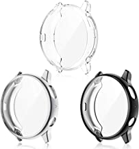 EZCO 3-Pack Screen Protector Case Compatible with Samsung Galaxy Watch Active 2 44mm, Plated Soft TPU Case Full Coverage S...